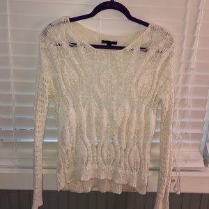 cream/white holy sweater